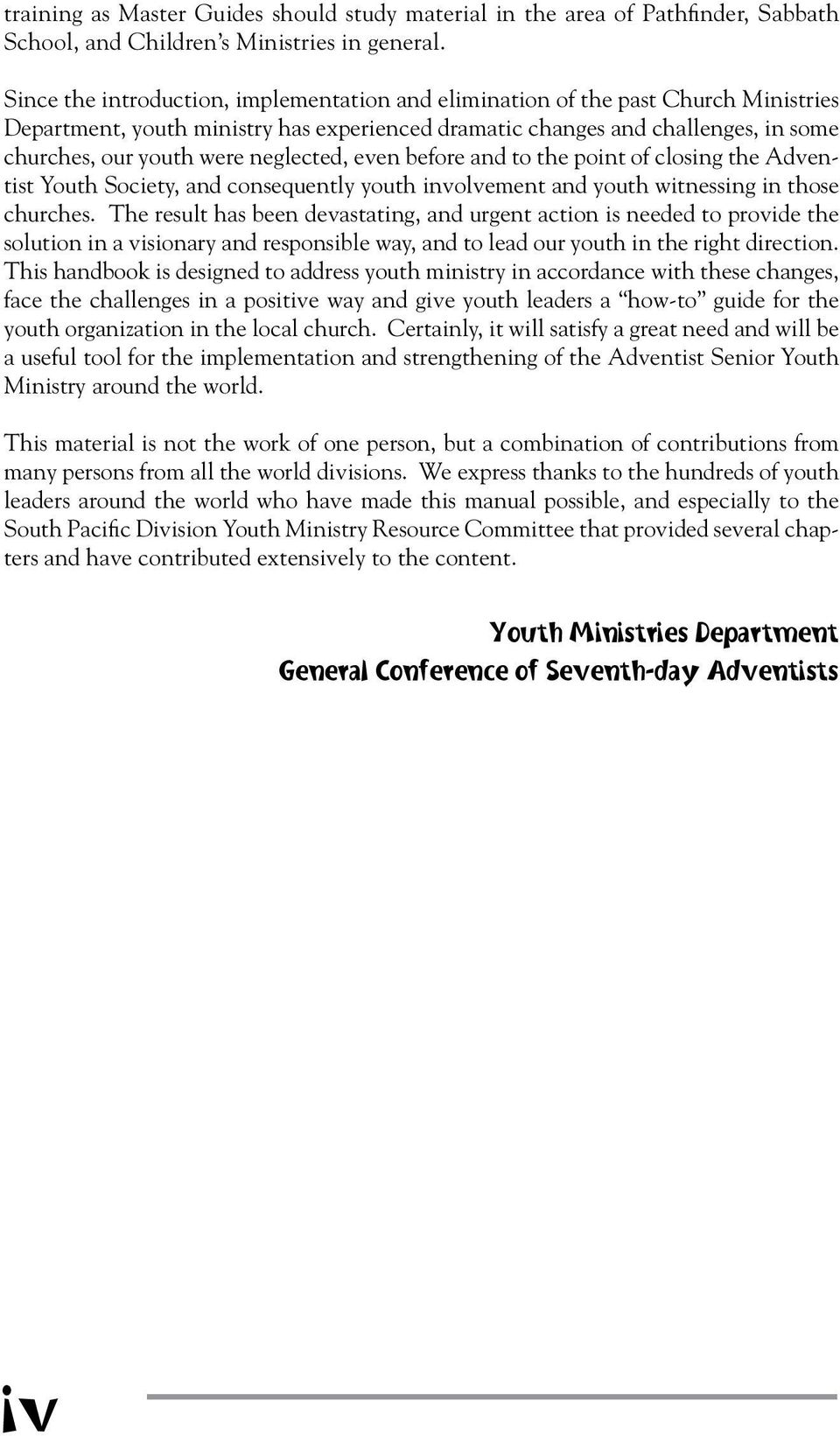 General Conference Of Sda Youth Ministries