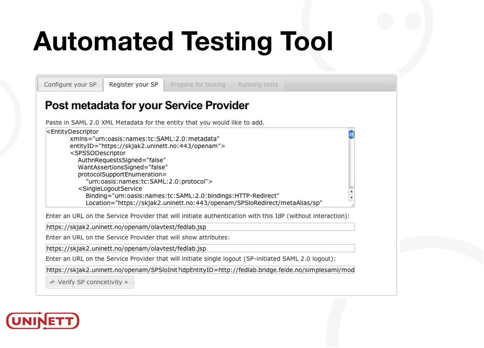 Automated Testing of SAML 2 0 Service Providers  Andreas
