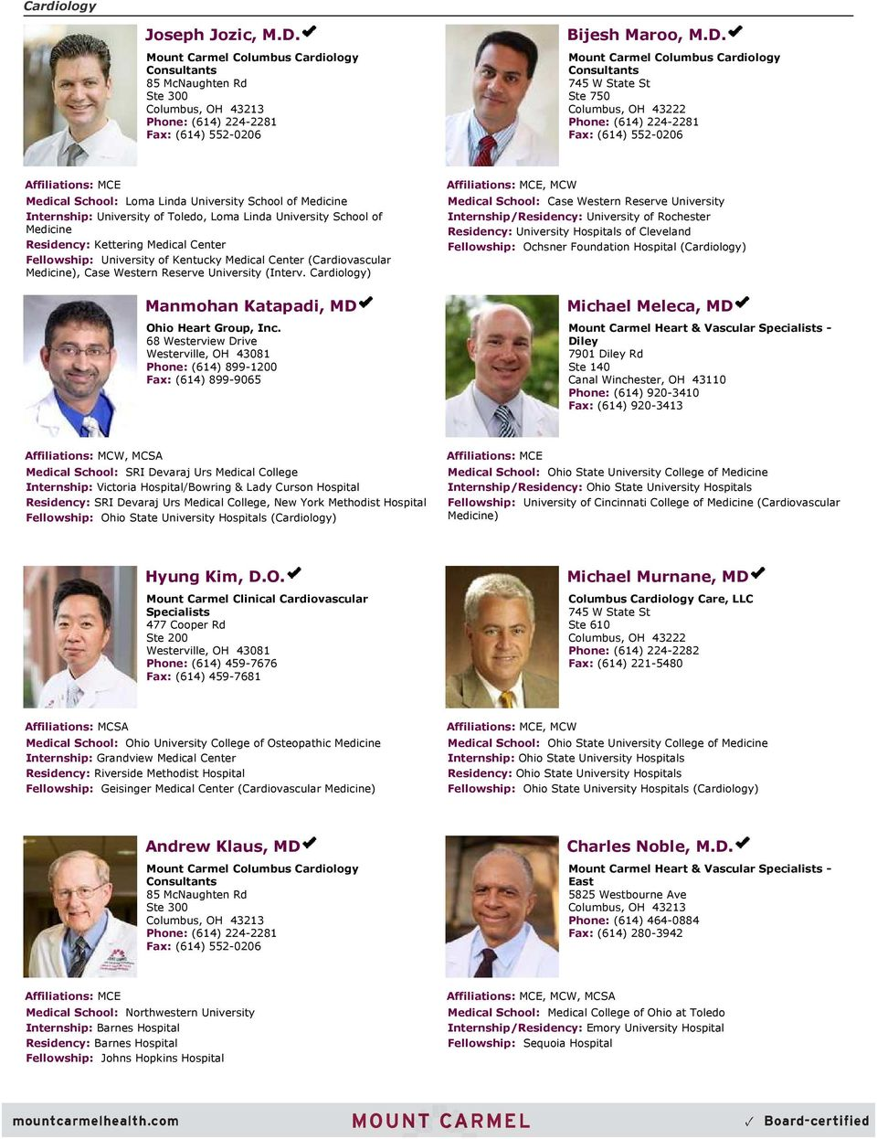 Specialties Allergy and Immunology 1  Anesthesiology 4