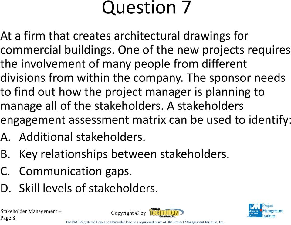 Module 11 Stakeholder Management Pmp Exam Questions Pdf