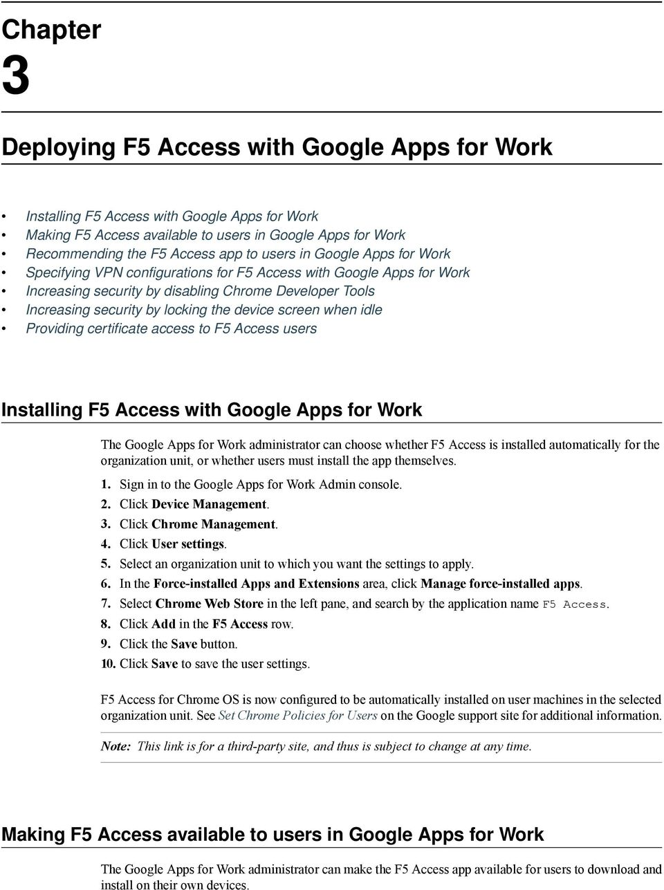 BIG-IP Access Policy Manager and F5 Access for Chrome OS v - PDF