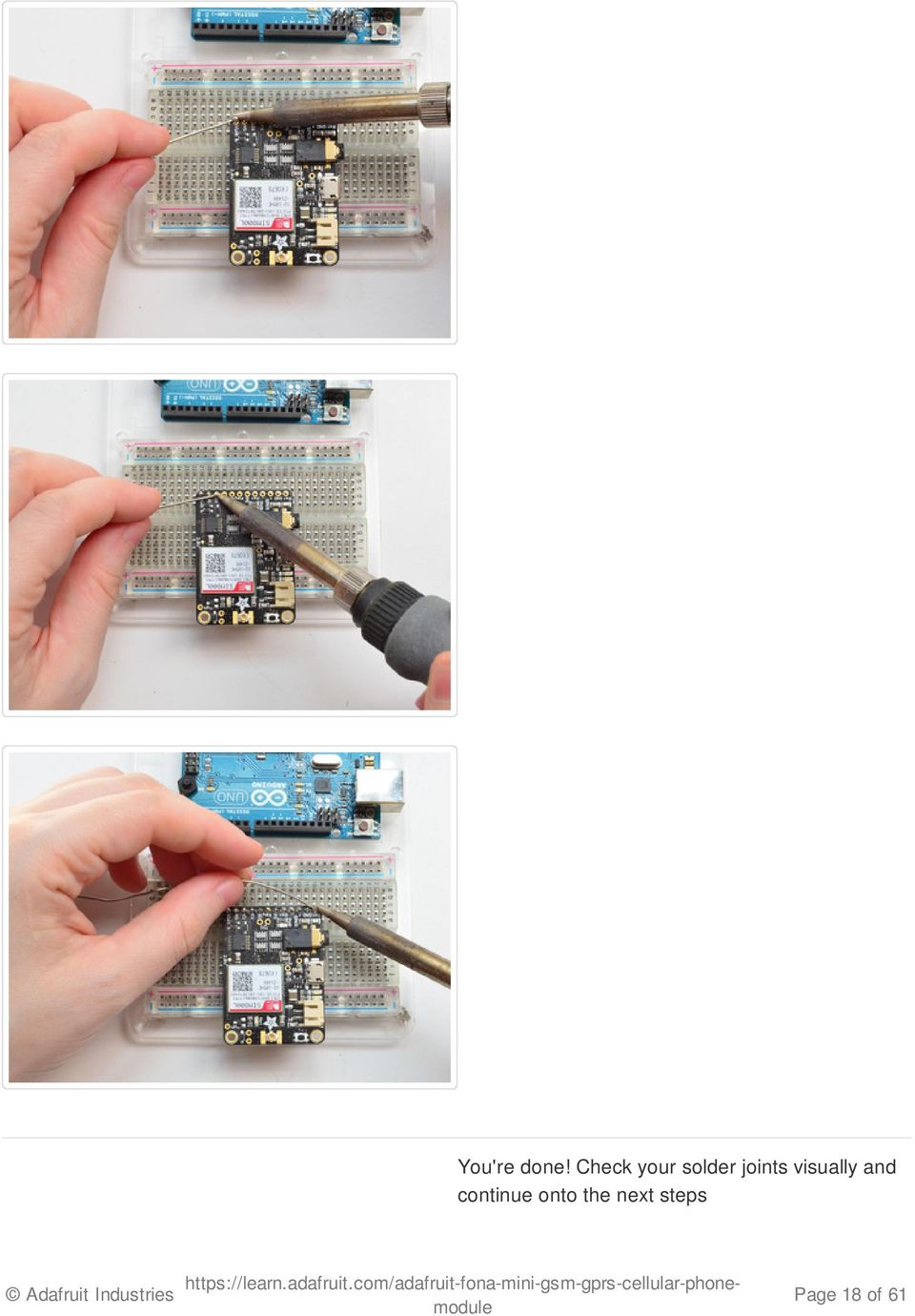 Adafruit Fona Created By Lady Ada Last Updated On 5011 Pm Est Pdf Gsm Gps Circuit Board Assembly With Module Sim808 Sim900a Sim900 View Joints Visually And