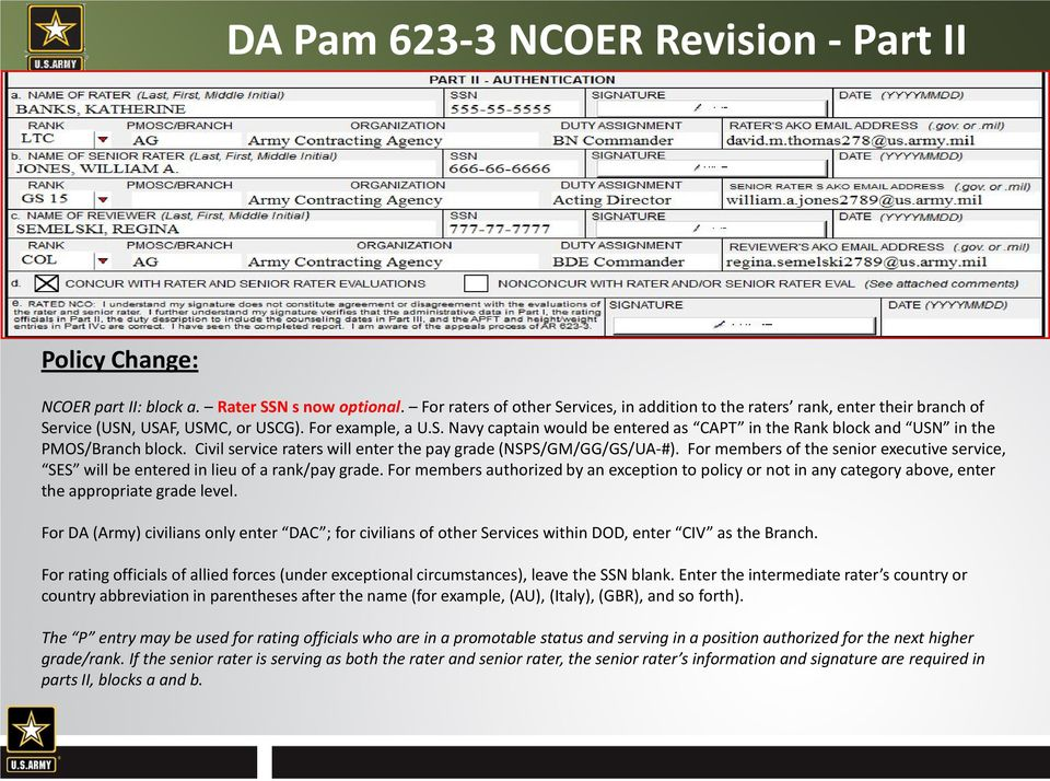 AR & DA Pam Policy Change & Clarification!! - PDF