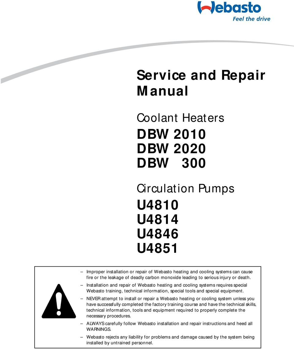 dbw 2010 dbw 2020 dbw 300 u4810 u4814 u4846 u pdf rh docplayer net  webasto scholastic heater parts manual