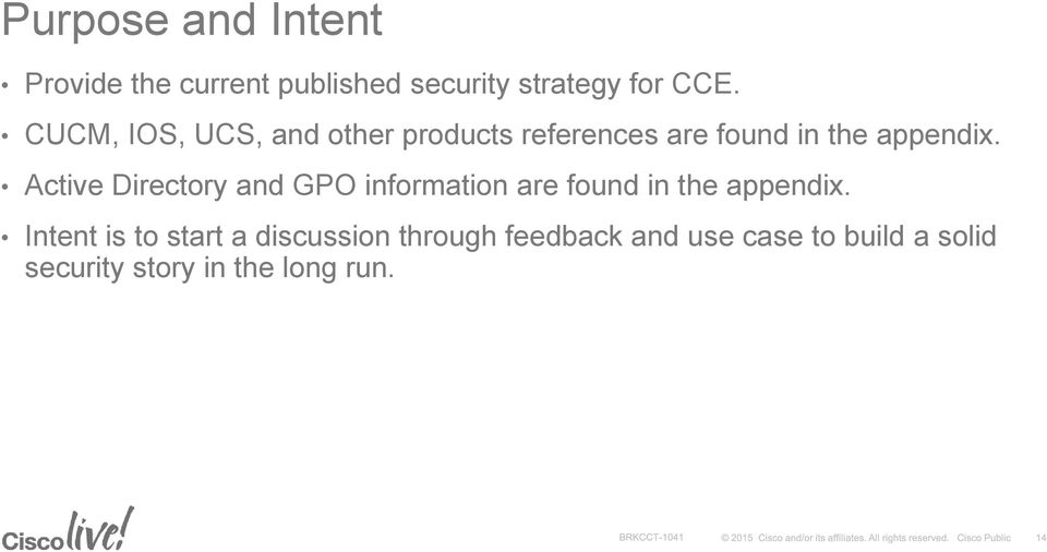 CCE Security Best Practice Guide Carlos Gonzales, CBABU