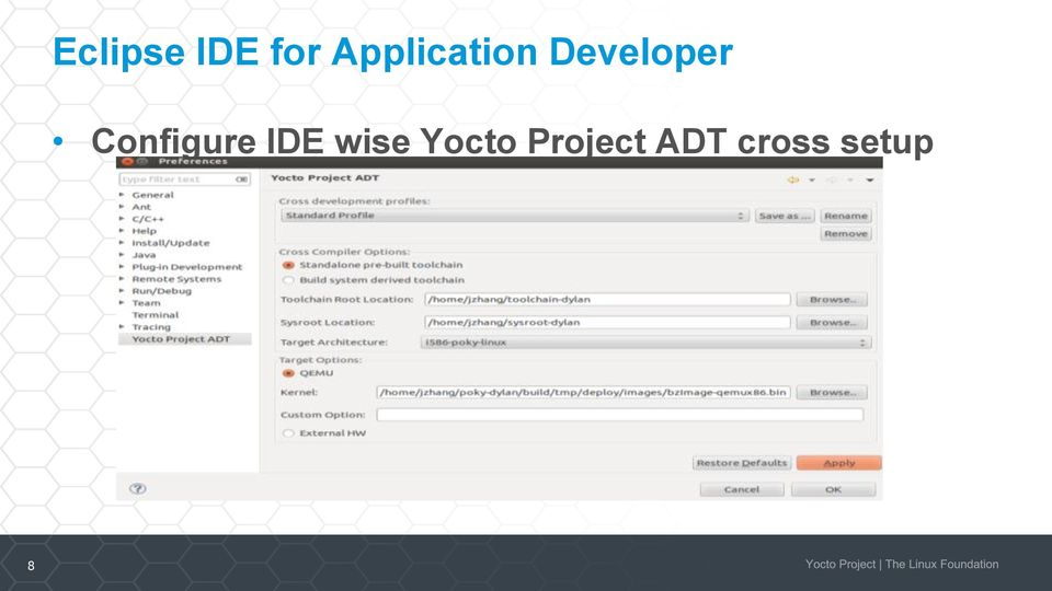 Yocto Project ADT, Eclipse plug-in and Developer Tools - PDF