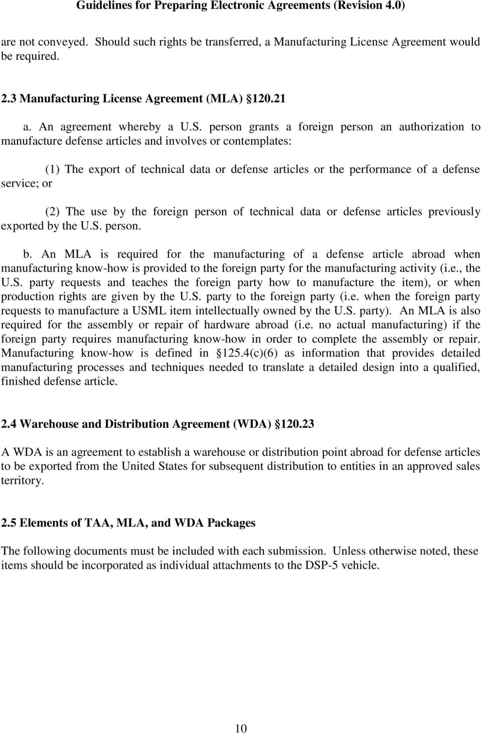 Guidelines For Preparing Electronic Agreements Pdf