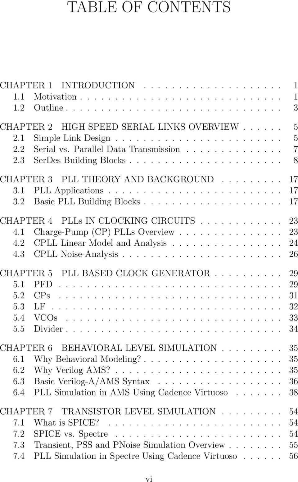 Design Of A Phase Locked Loop Based Clocking Circuit For High Speed Multi Gigabit Serial Link Analysis 17 31 Pll Applications