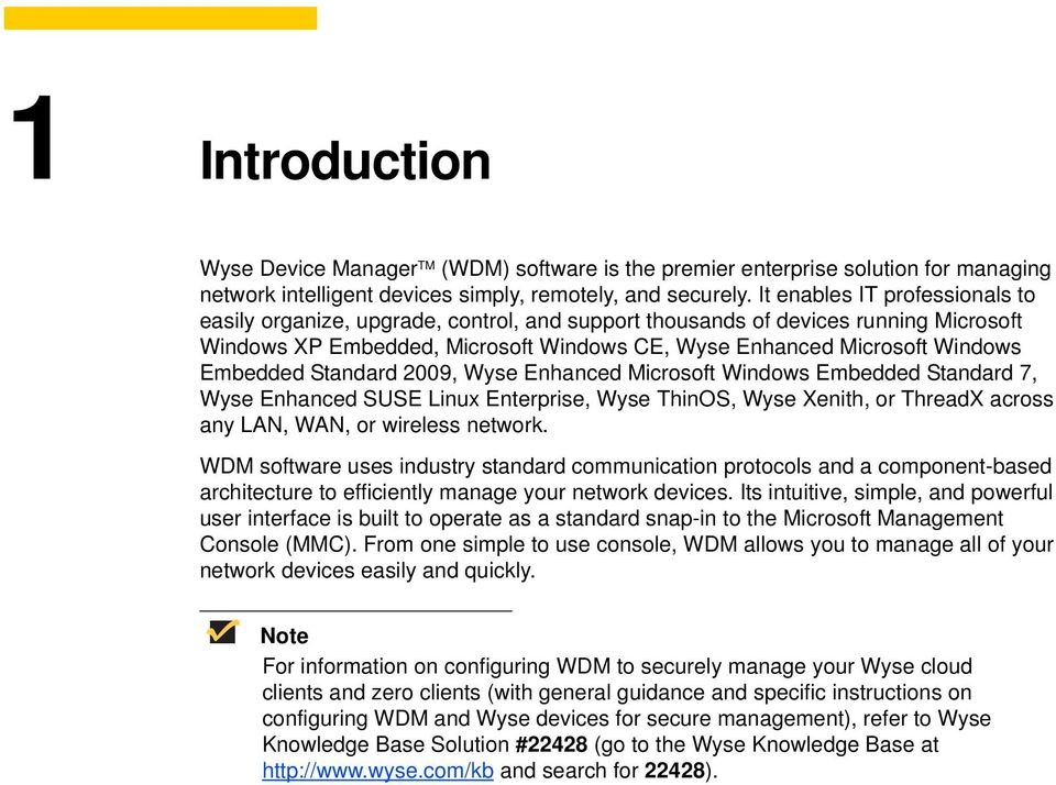 Administrators Guide  Wyse Device Manager Release Issue: PN