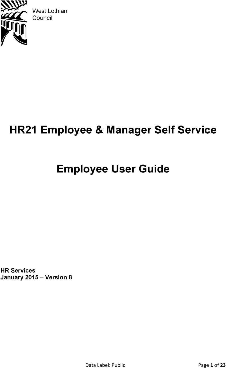 User Guide HR Services January 2015