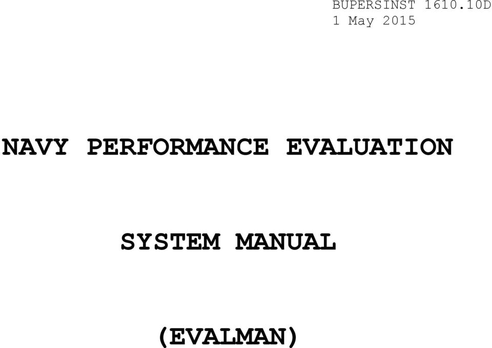 1 Purpose To Publish Revised Guidance For Performance Evaluation