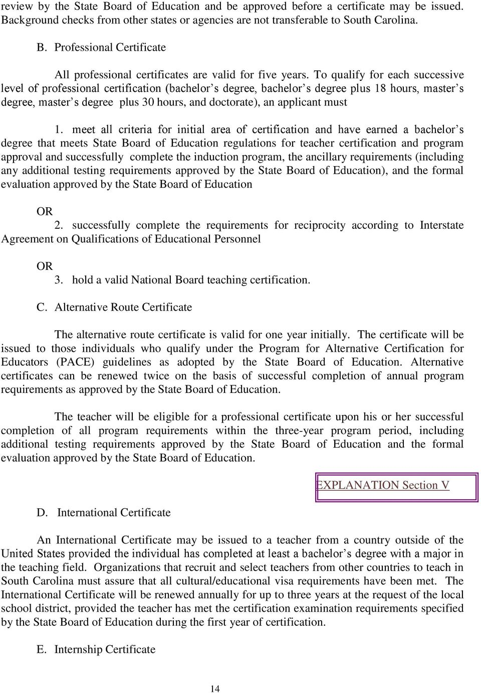 South Carolina Educator Certification Manual Pdf