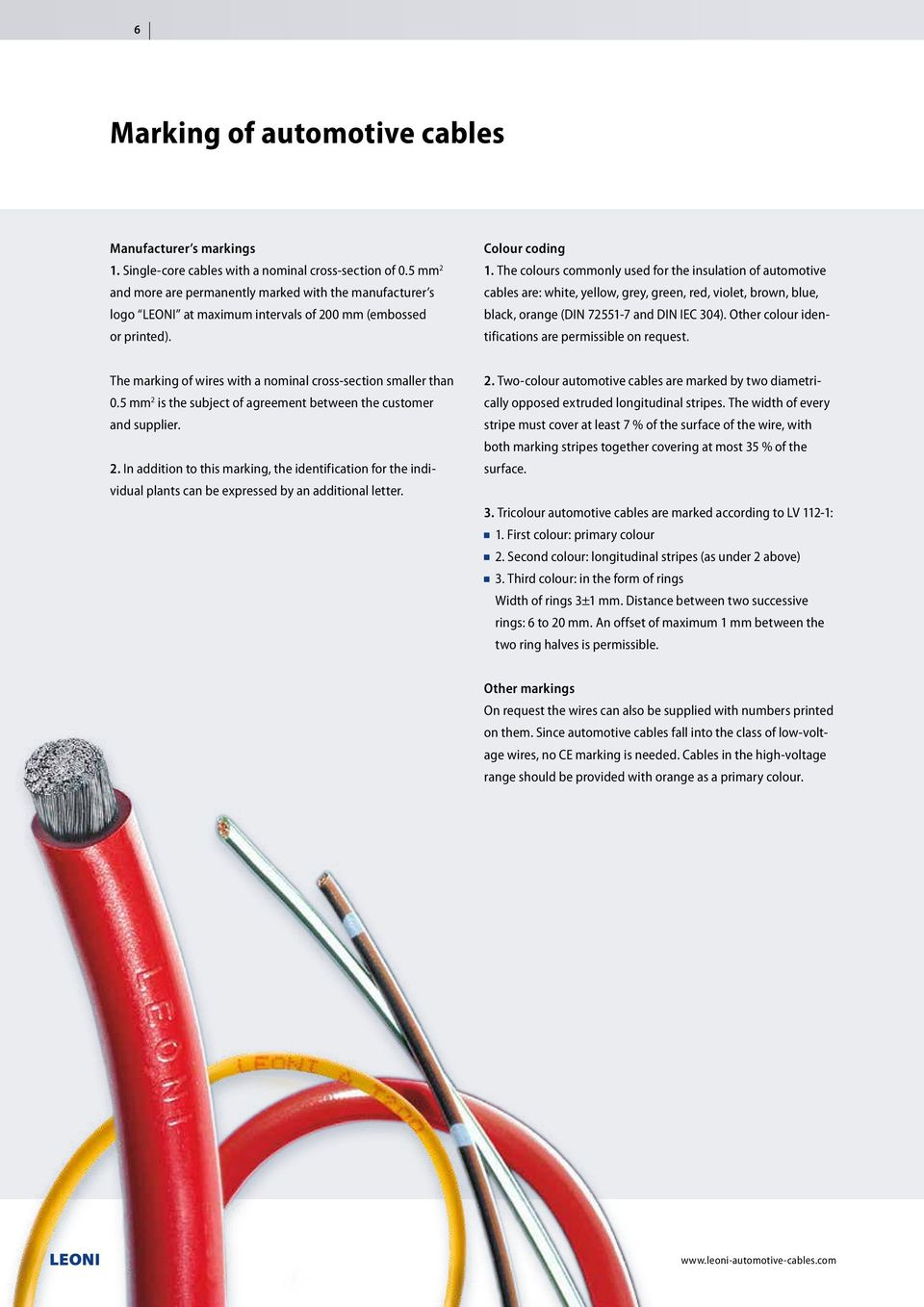 The Quality Connection. Single-core automotive cables - PDF