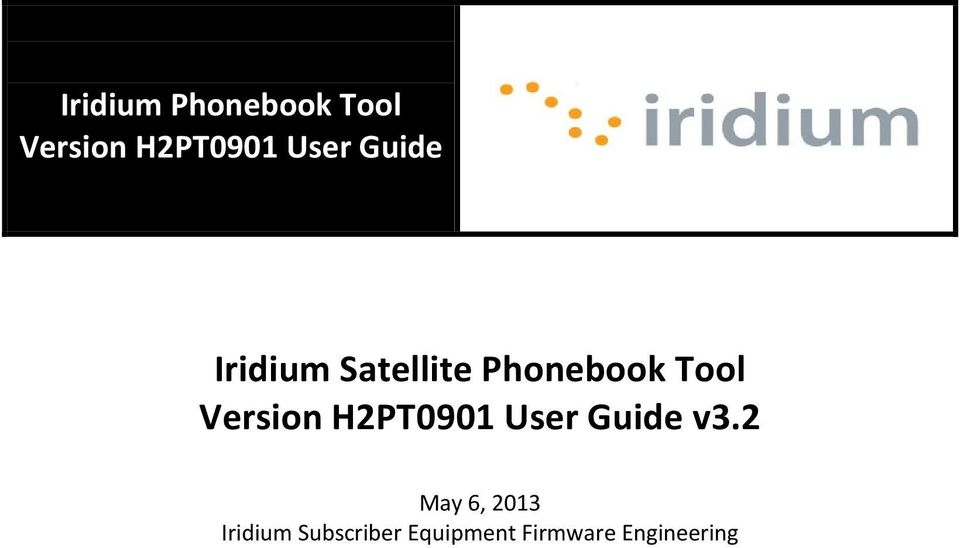 Version H2PT0901 User Guide v3.