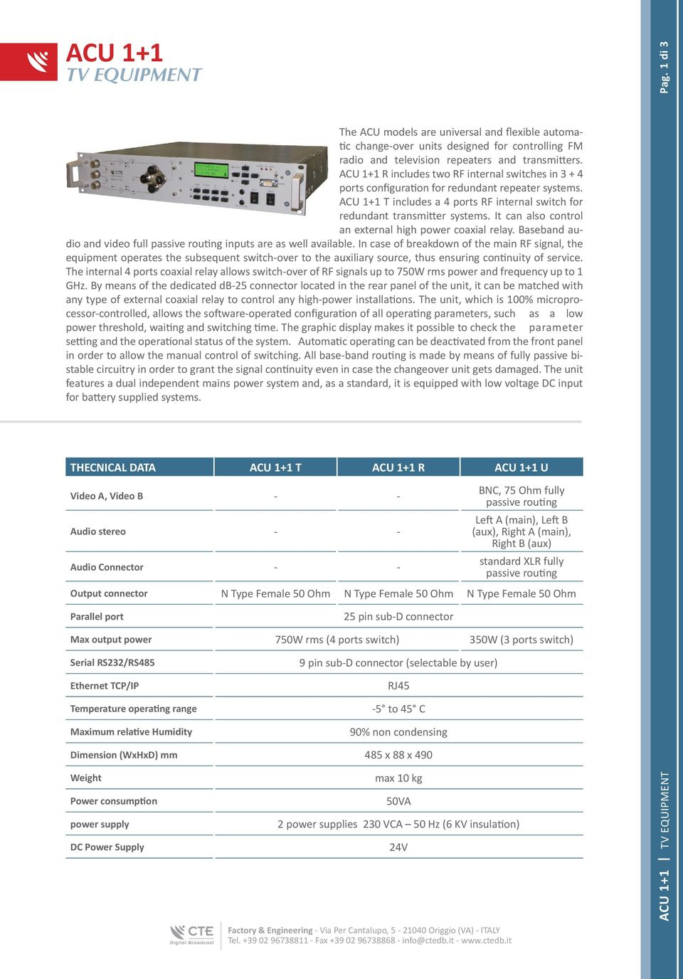 More Than 60 Years Experience Pdf Diagram Also 5 Pin Relay With Connector Moreover Universal Pct 13 It Can Control An External High Power Coaxial Baseband Audio And Video Full