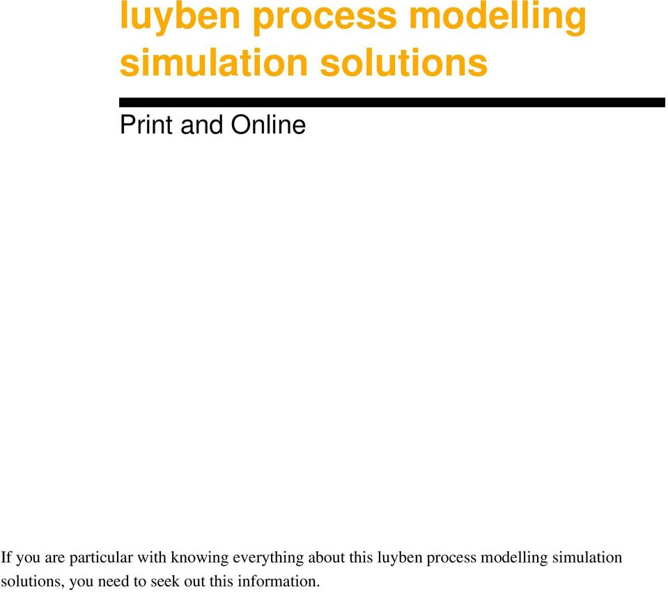 solution manual coughanowr rh slideshare net. luyben process modelling  simulation solutions pdf rh docplayer net