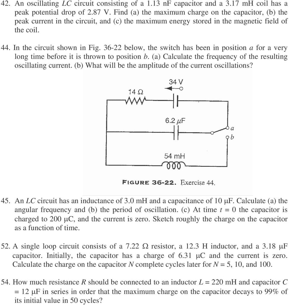 Homework Physics 2 For Students Of Mechanical Engineering Pdf To Calculate The Current Through Resistor R 1 In Two Loop Circuit 36 22 Below Switch Has Been Position A Very Long