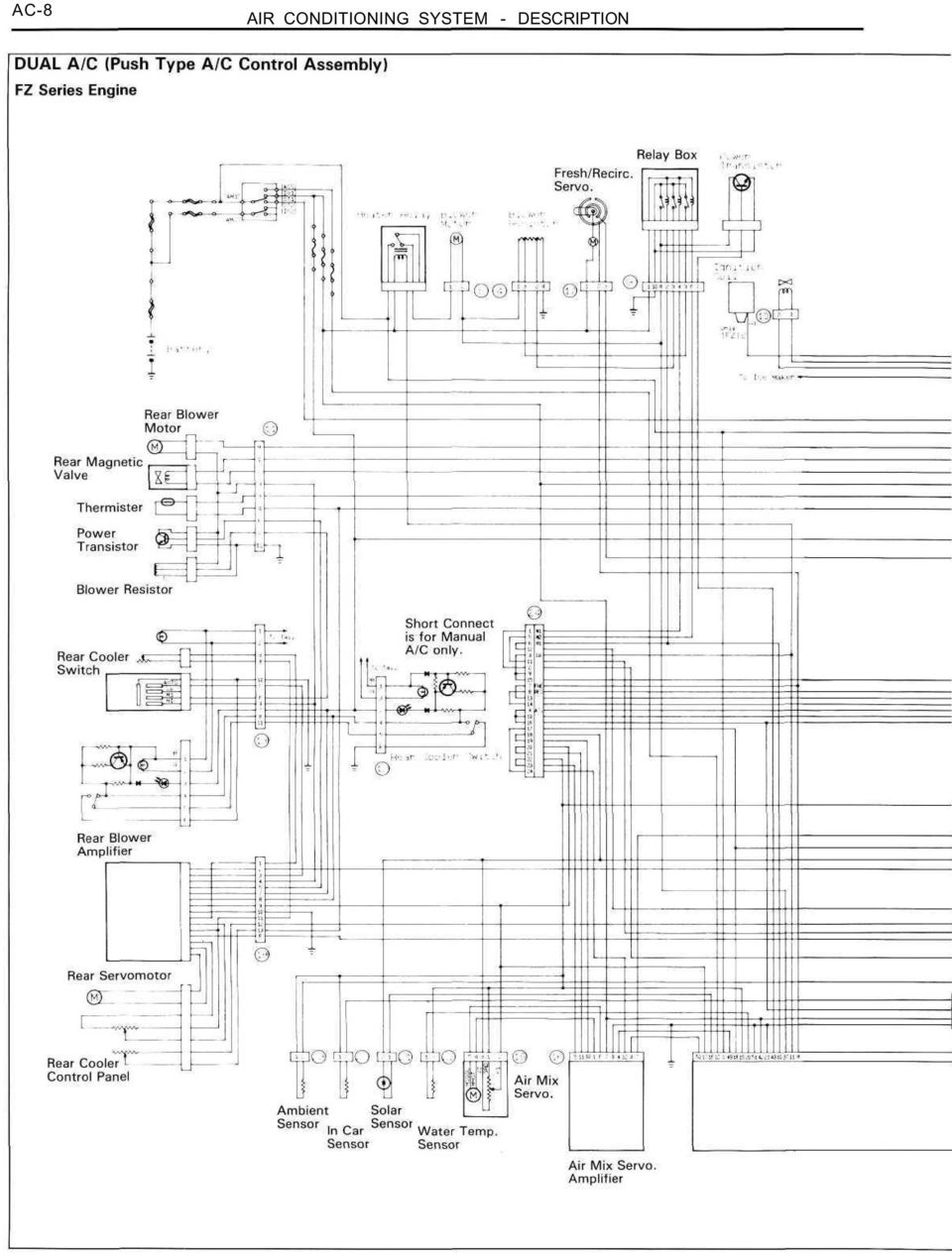 Toyota Sienna Service Manual: Air outlet control servo motor (for rear air conditioning system)