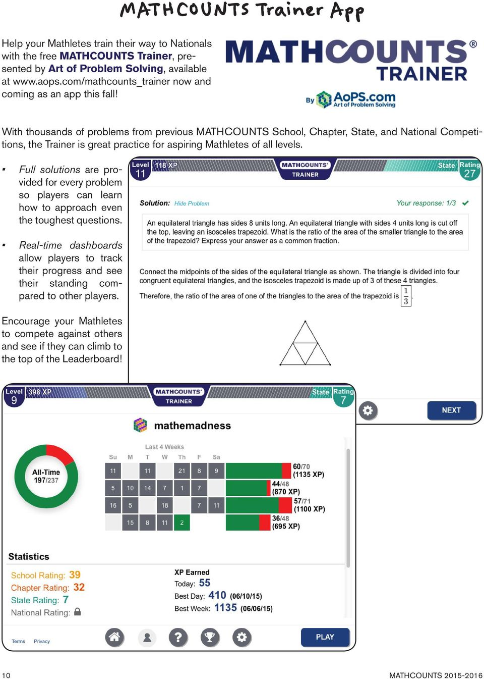 School handbook contains 250 creative math problems that meet the mathcounts trainer app with thousands of problems from previous mathcounts school chapter state fandeluxe Choice Image
