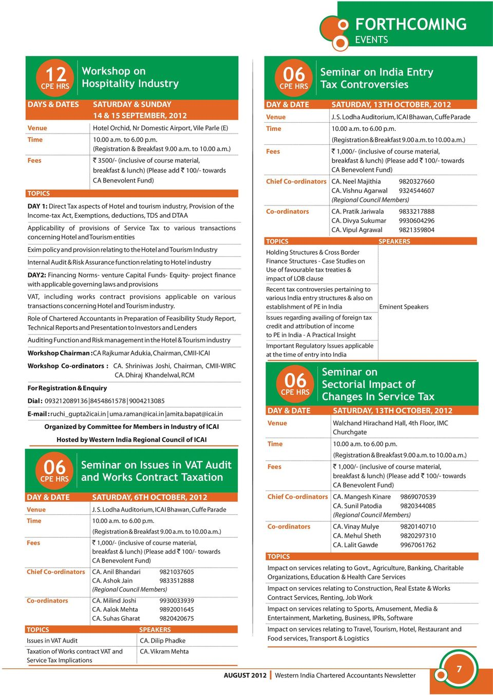 WESTERN INDIA CHARTERED ACCOUNTANTS NEWSLETTER - PDF