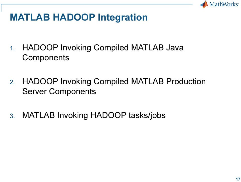 MATLAB in Production Systems, Database Integration, and Big