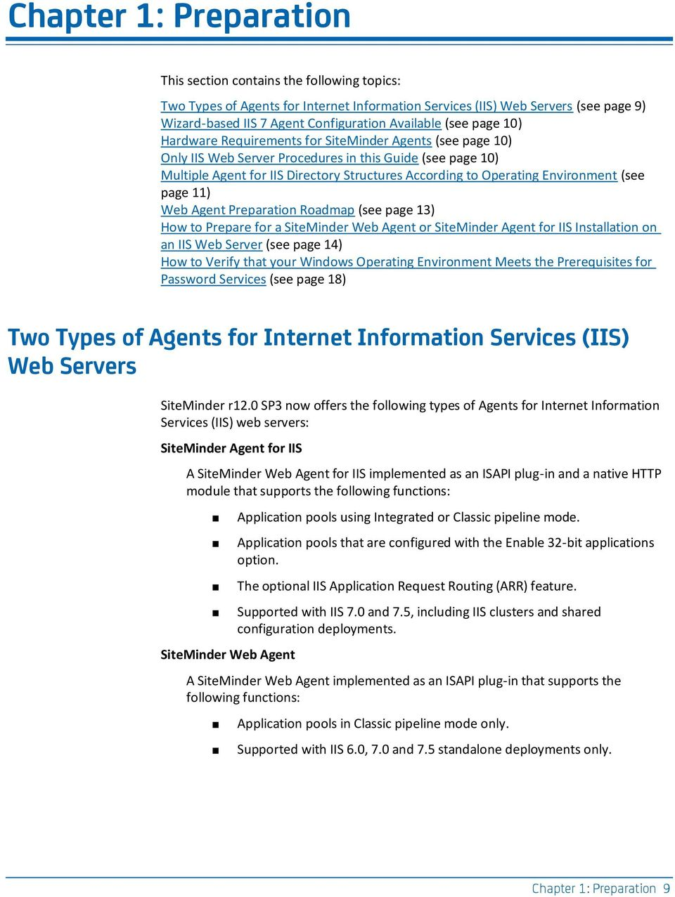 CA SiteMinder  Web Agent Installation Guide for IIS  r12 0