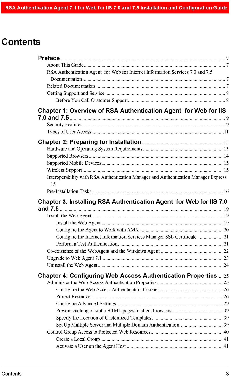 RSA Authentication Agent 7 1 for Web for IIS 7 0 and 7 5