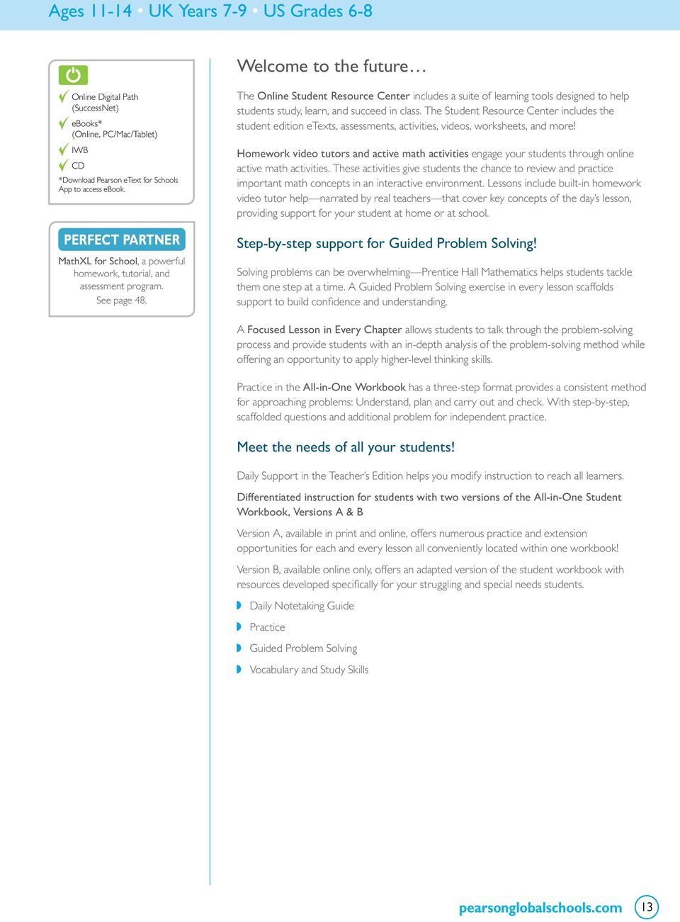 Secondary mathematics pdf the online student resource center includes a suite of learning tools designed to help students study fandeluxe Gallery