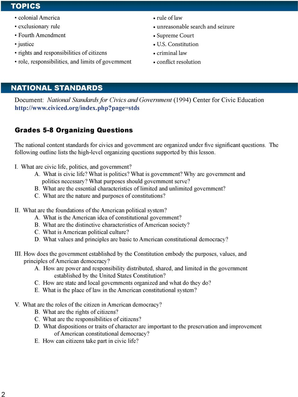 limited and unlimited government worksheet