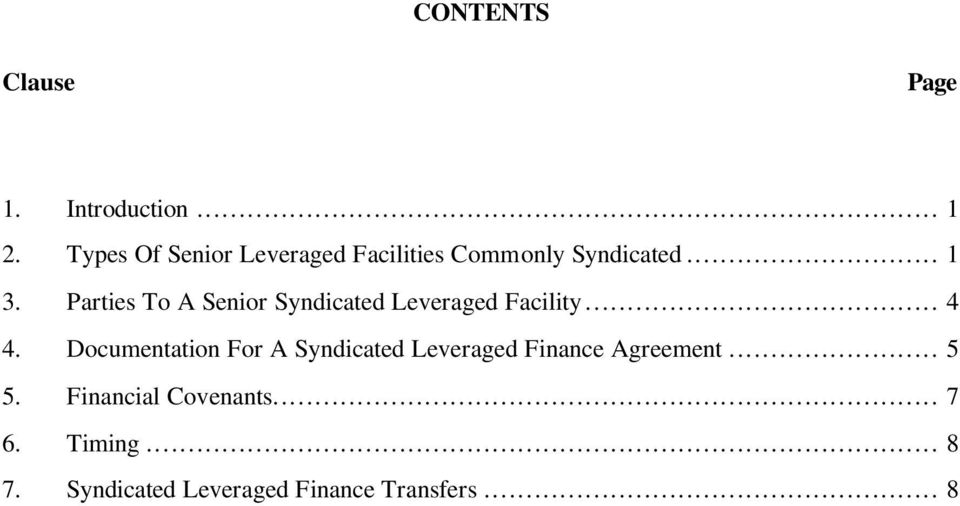 Guide To Syndicated Leveraged Finance Pdf