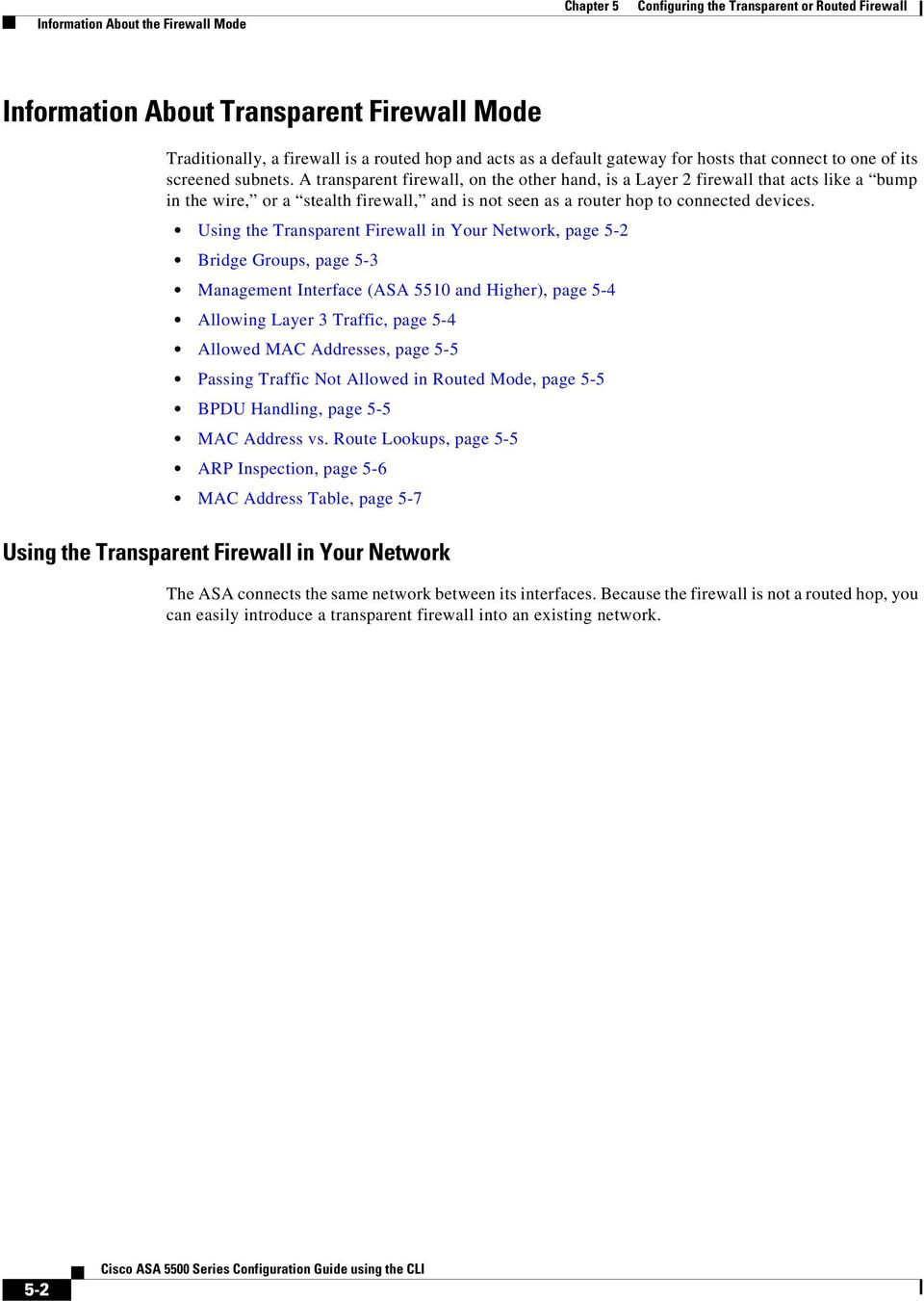Configuring the Transparent or Routed Firewall - PDF