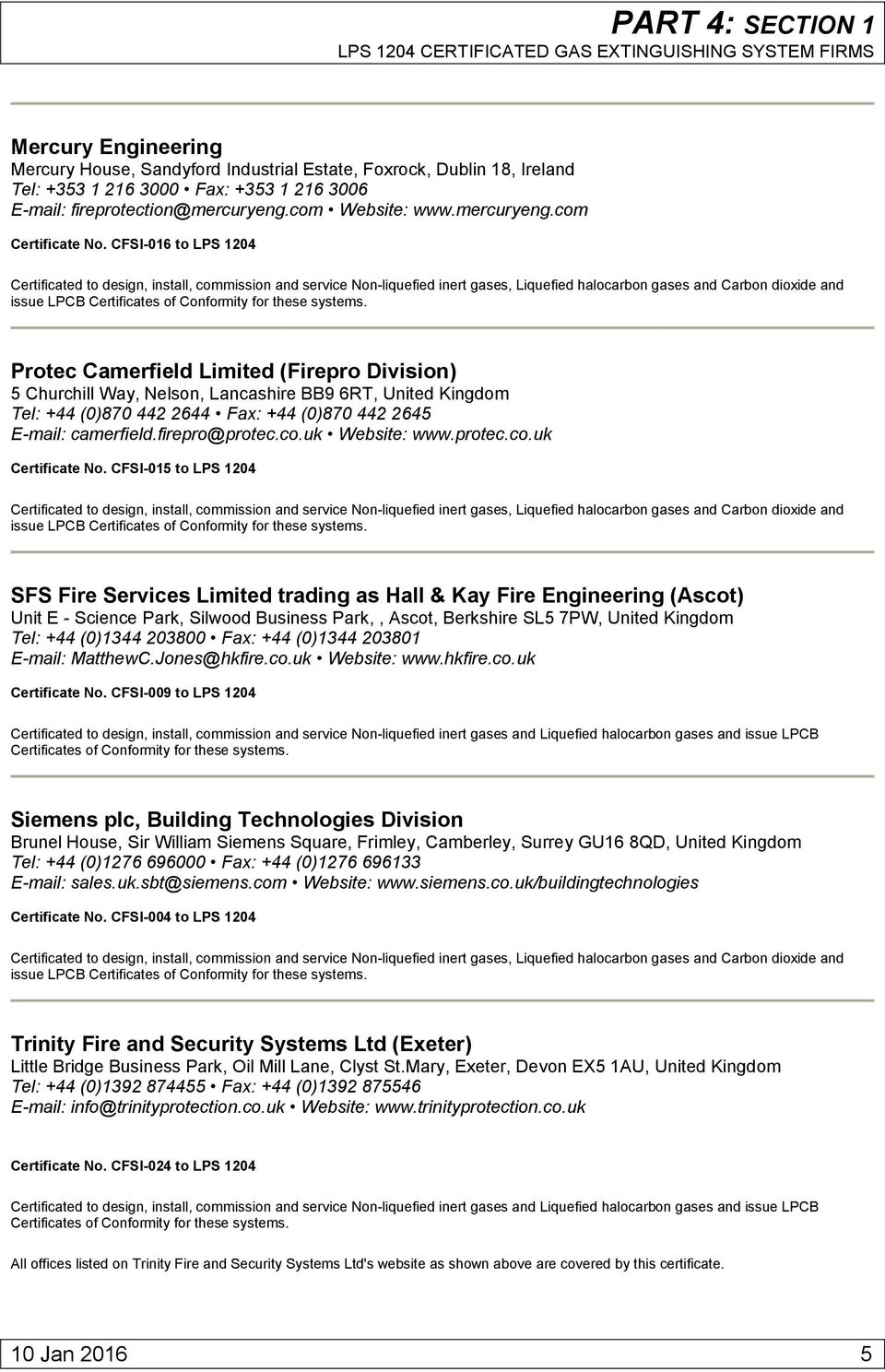 VOLUME 1 LIST OF APPROVED PRODUCTS AND SERVICES - PDF