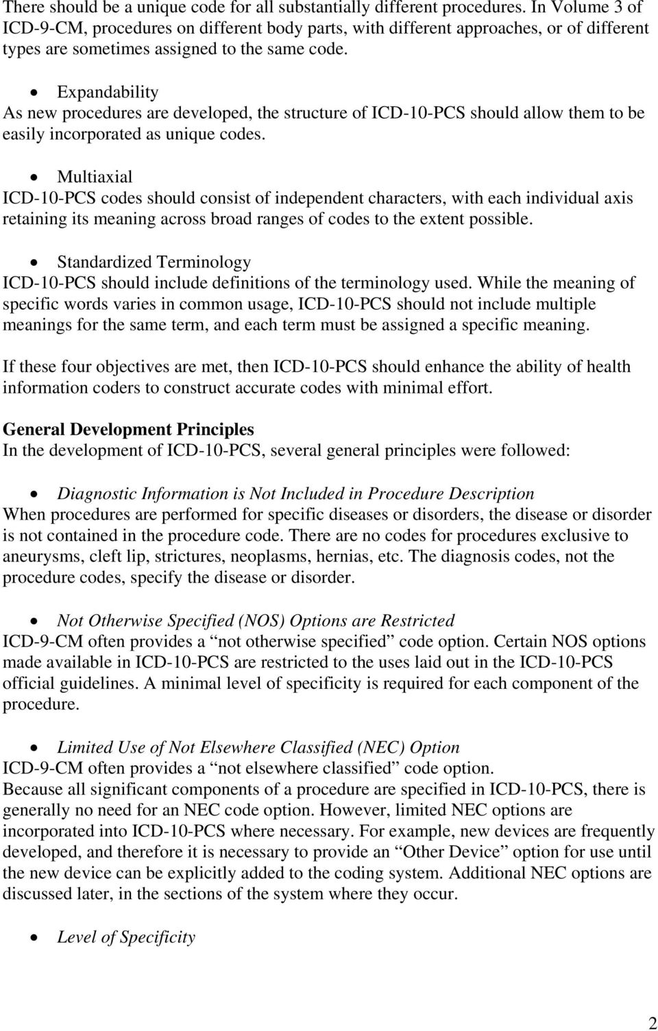Development Of The Icd 10 Procedure Coding System Icd 10 Pcs Pdf
