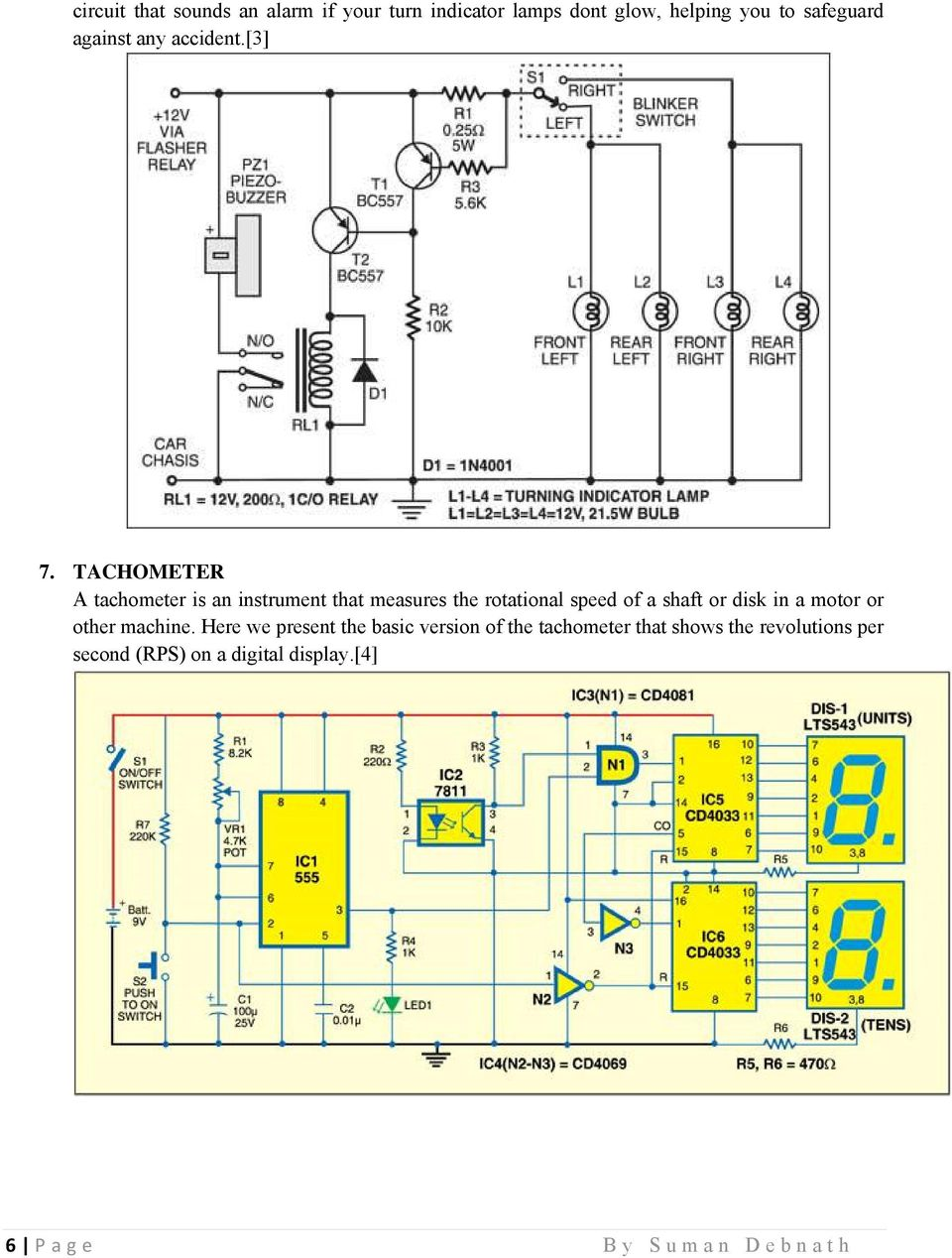 270 Mini Electronics Project With Circuit Diagram Pdf 10 Step Relay Selector Switch Electronic Projects Tachometer A Is An Instrument That Measures The Rotational Speed Of Shaft Or Disk