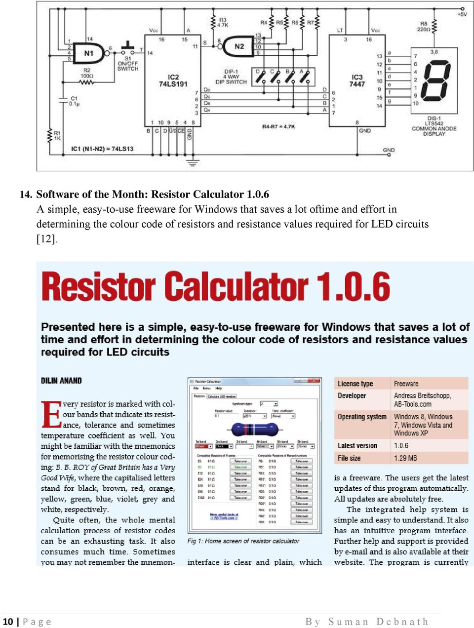270 Mini Electronics Project With Circuit Diagram Pdf Led Flasher By Ic 4011 Wiring Diagrams Oftime And Effort In Determining The Colour Code Of Resistors