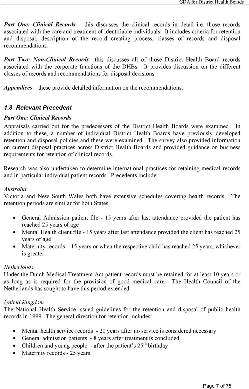 General Disposal Authority For District Health Board Records