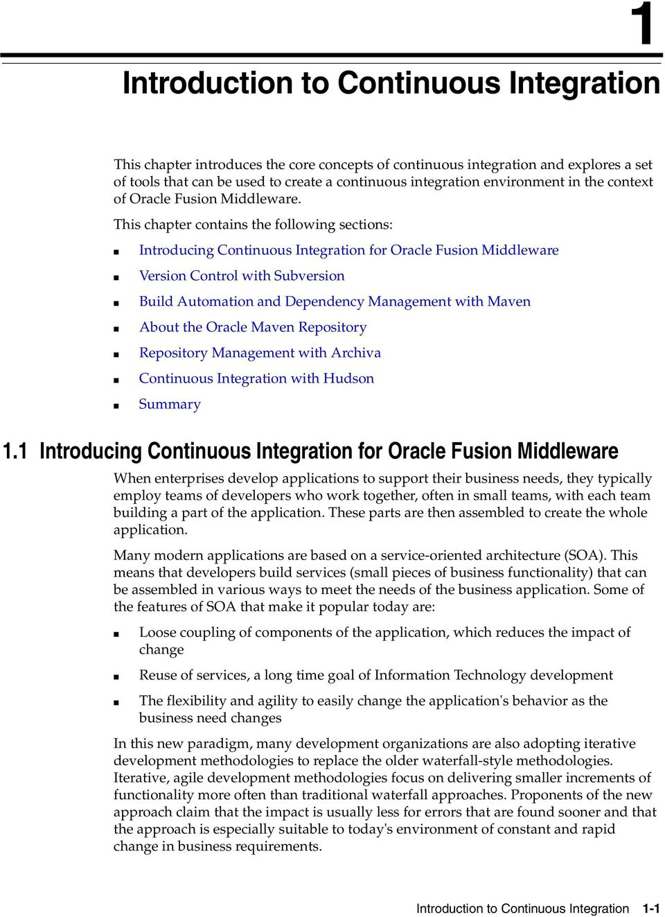Developing Applications Using Continuous Integration 12c
