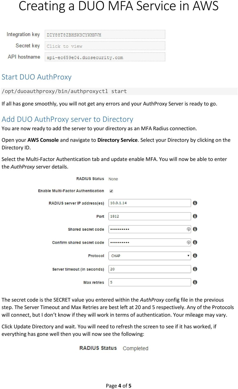 Creating a DUO MFA Service in AWS - PDF