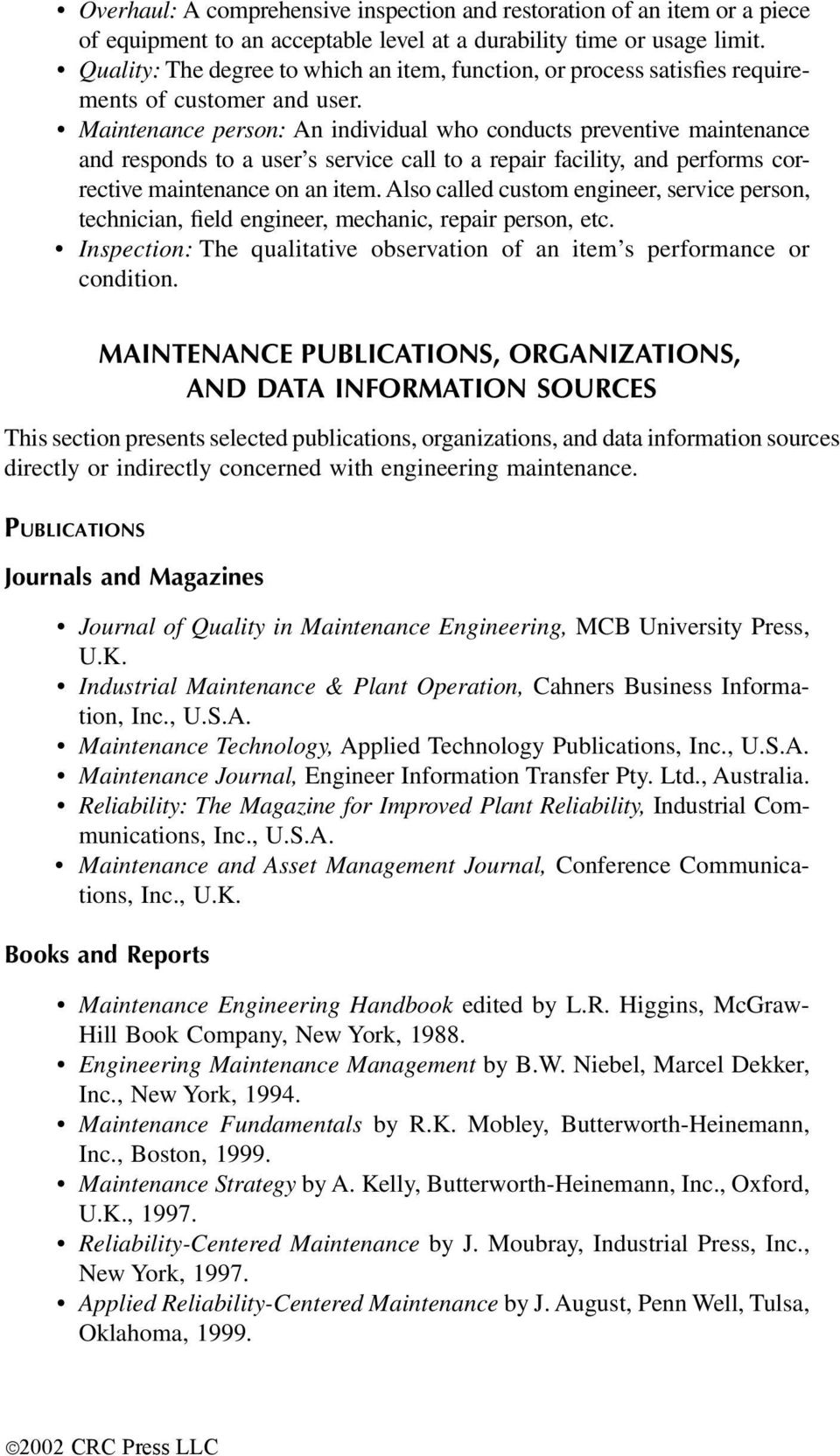 industrial maintenance reference guide mcgraw hill engineering reference guide series