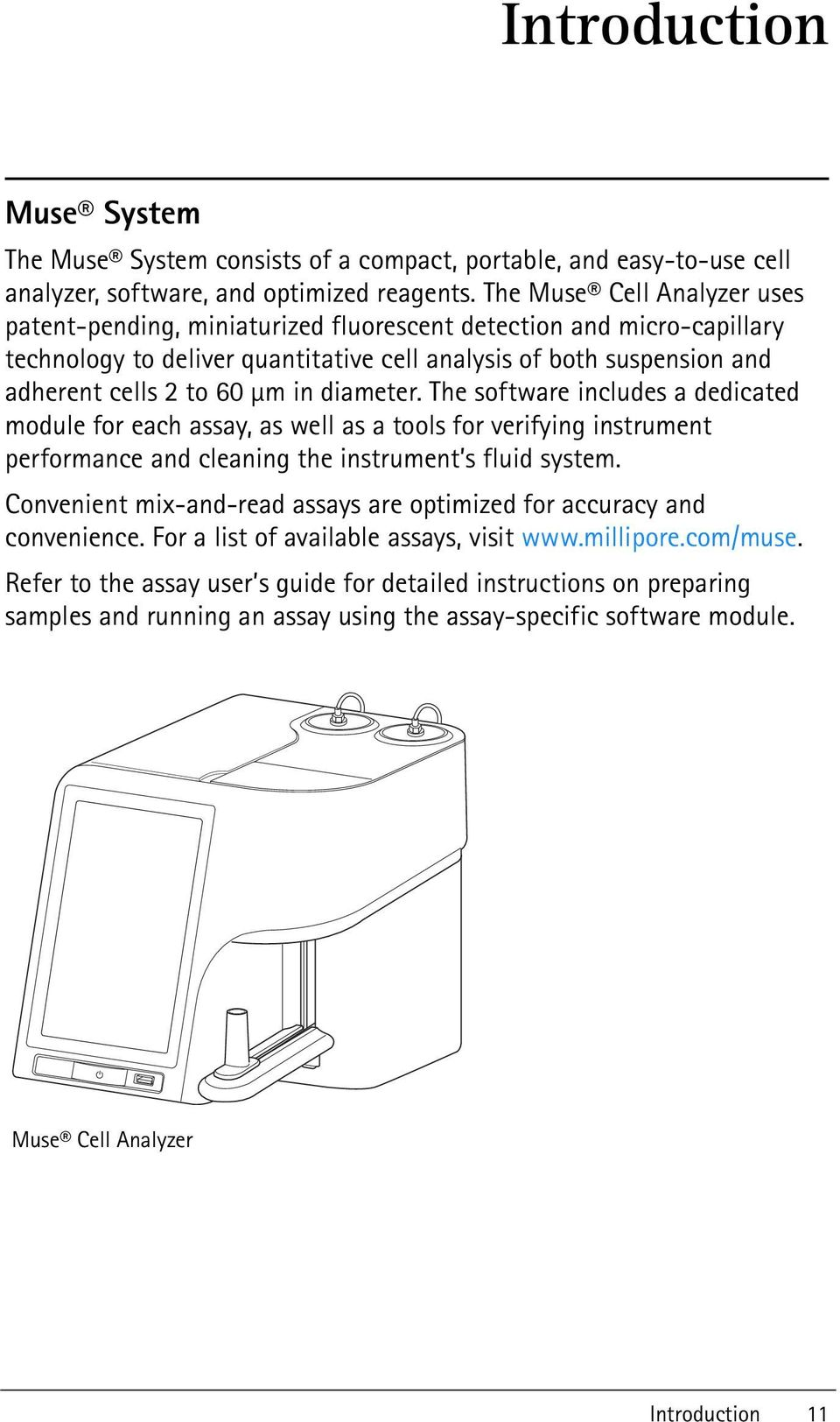 Muse Cell Analyzer  User s Guide  For Research Use Only
