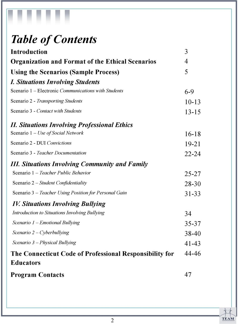 Ethical and Professional Dilemmas for Educators