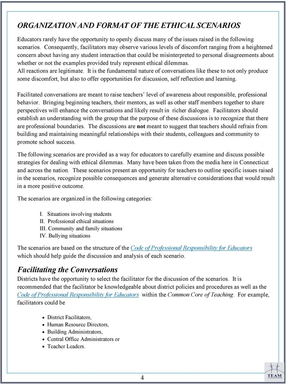 Ethical and Professional Dilemmas for Educators  Understanding the