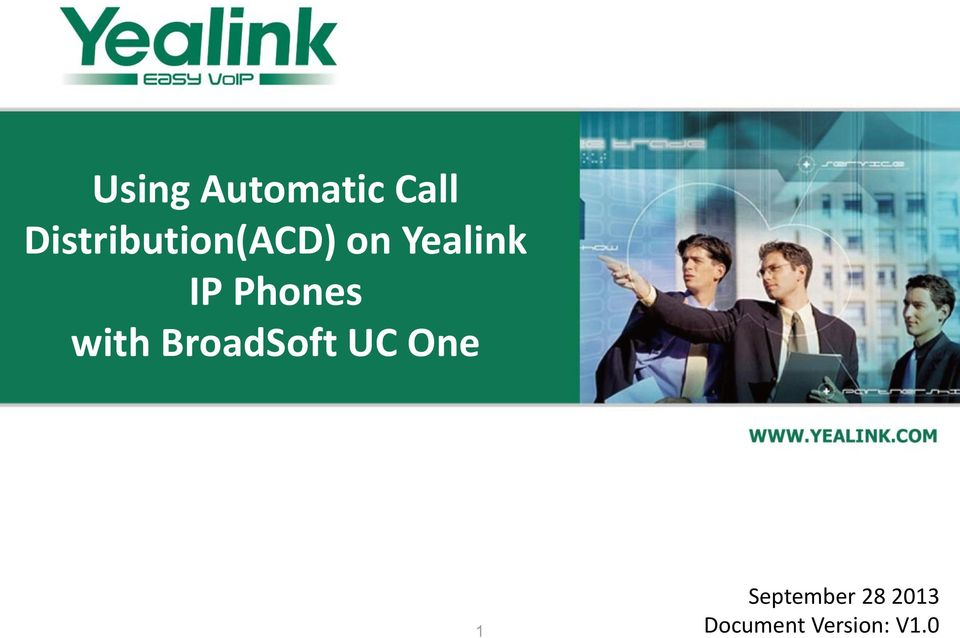Using Automatic Call Distribution(ACD) on Yealink IP Phones