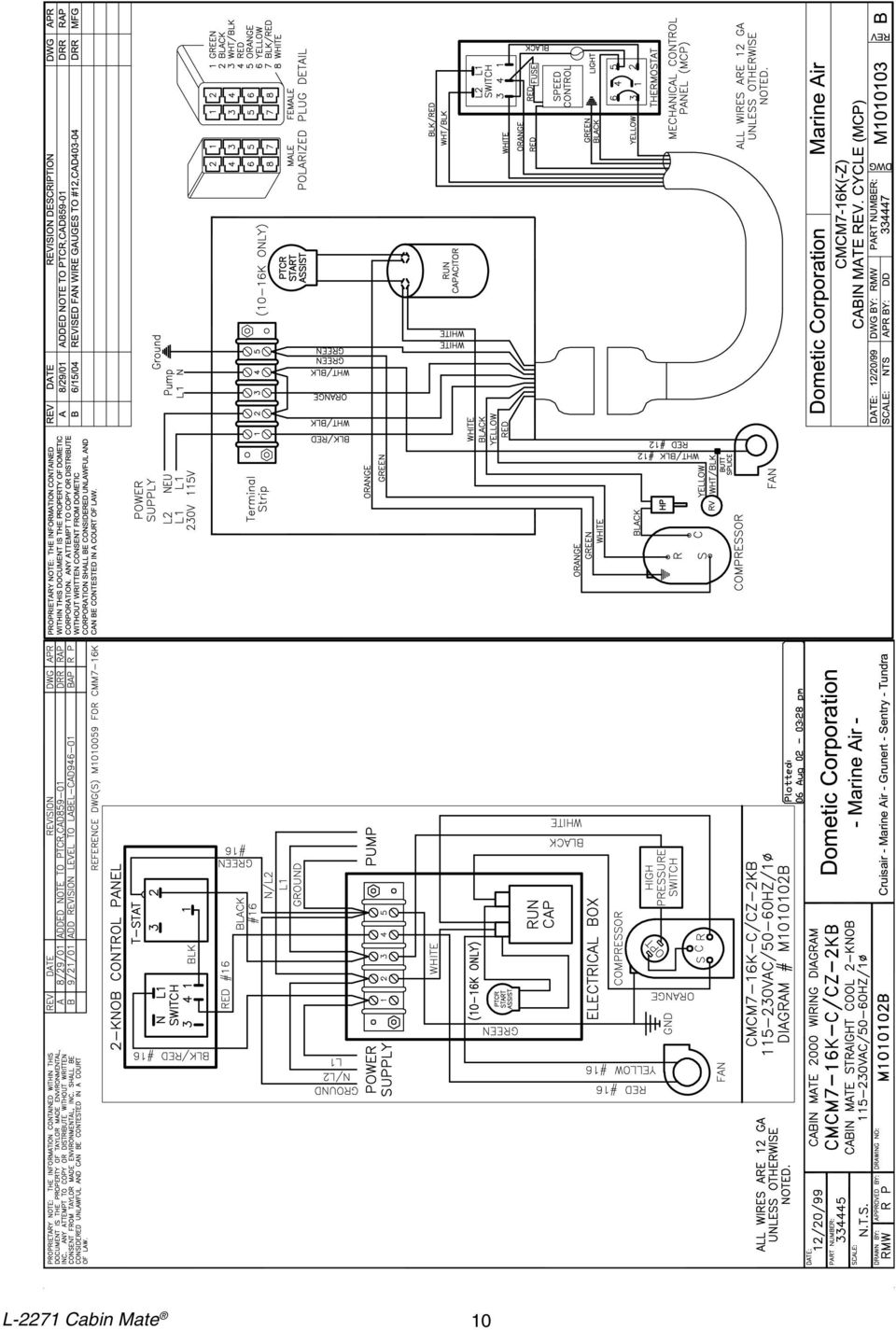 Cabin Mate Installation Operation And Maintenance Revised L Pdf Rule 500 Wiring Diagram 10