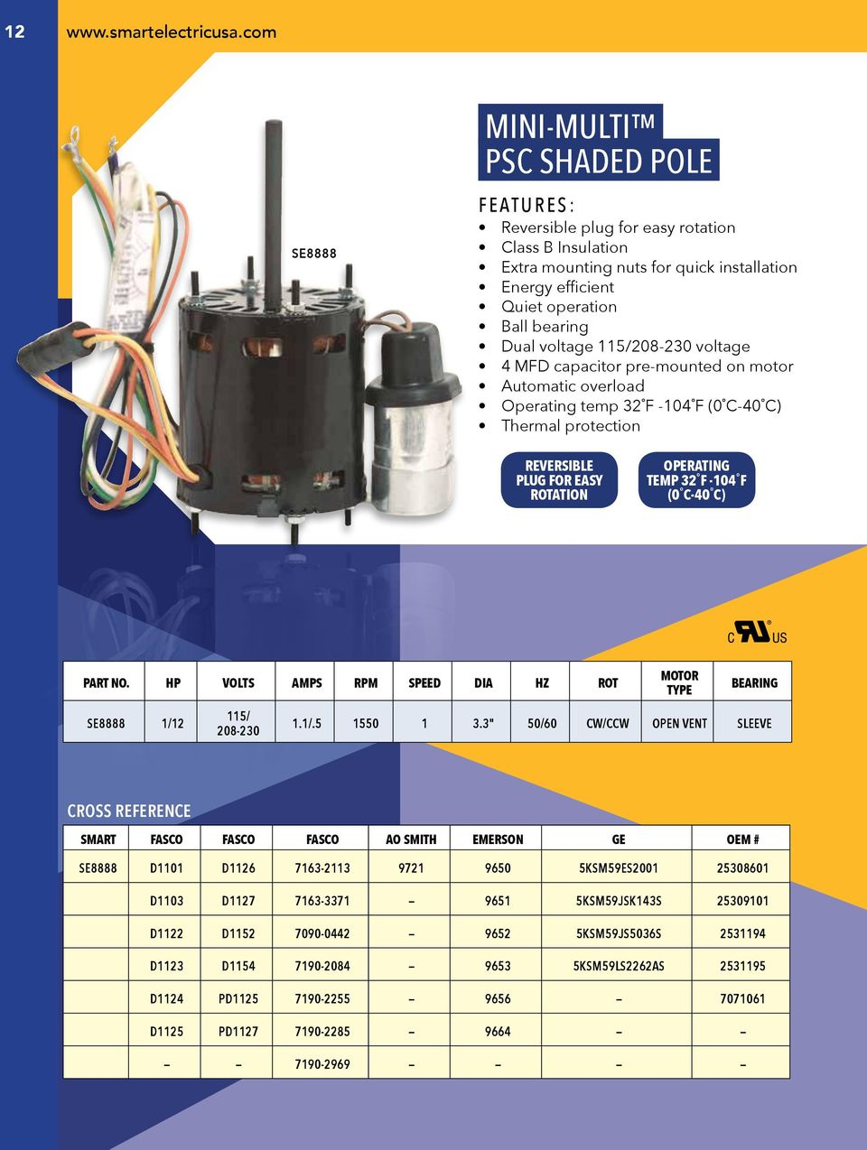 Smart Electric Product Catalog Toll Free Pdf 40 Mfd Capacitor Ac Motor Wiring Diagram 115 208 230 Voltage 4 Pre Mounted On Automatic Overload