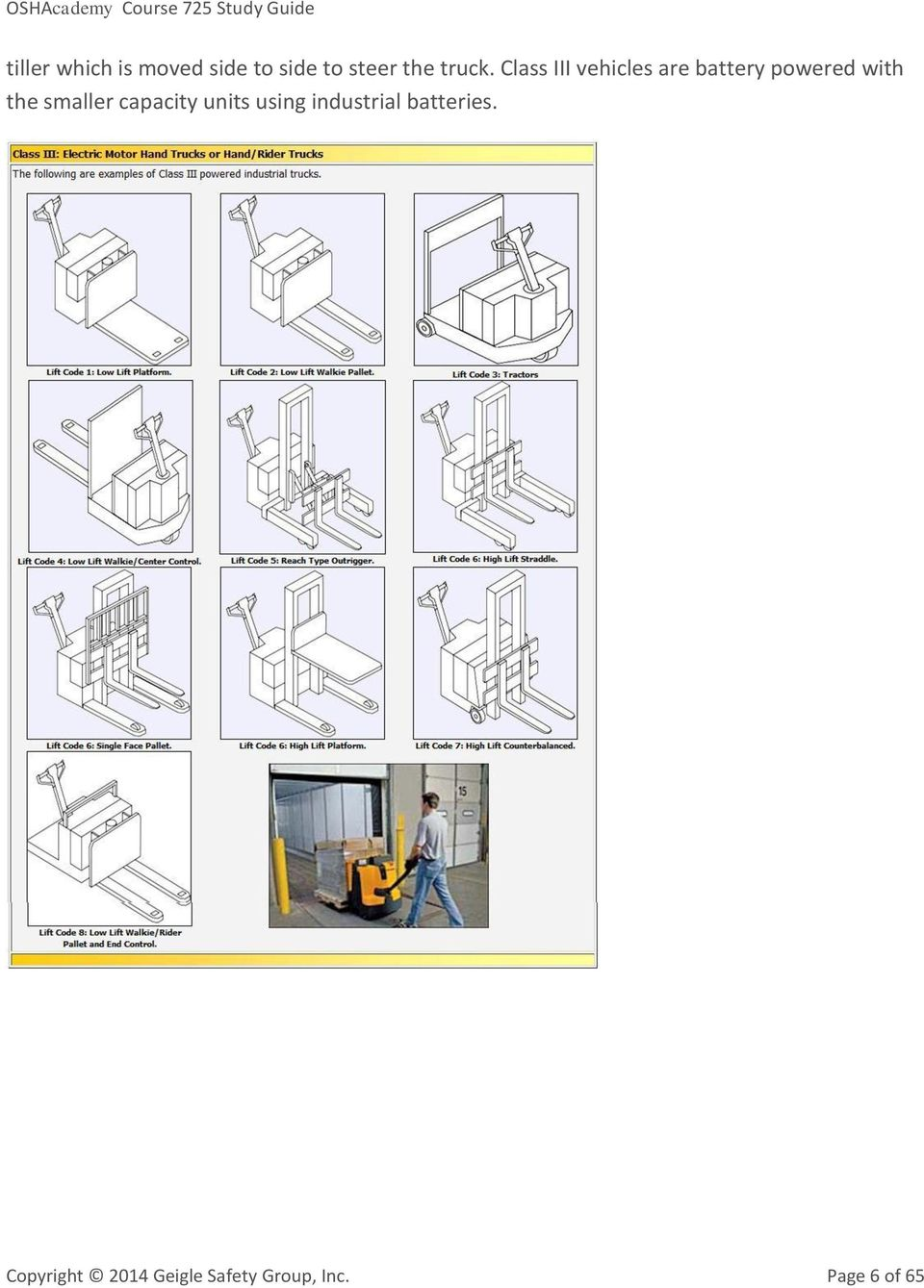 OSHAcademy Course 725 Study Guide  Forklift Safety - PDF