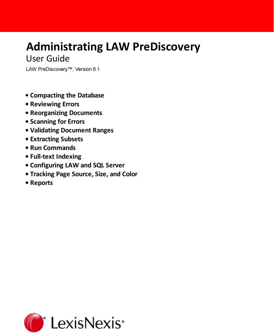 administrating law prediscovery user guide pdf rh docplayer net Discovery Process Broderbund Family Lawyer