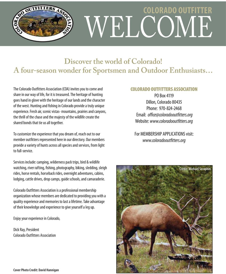 OUTFITTERS ASSOCIATION Directory - PDF