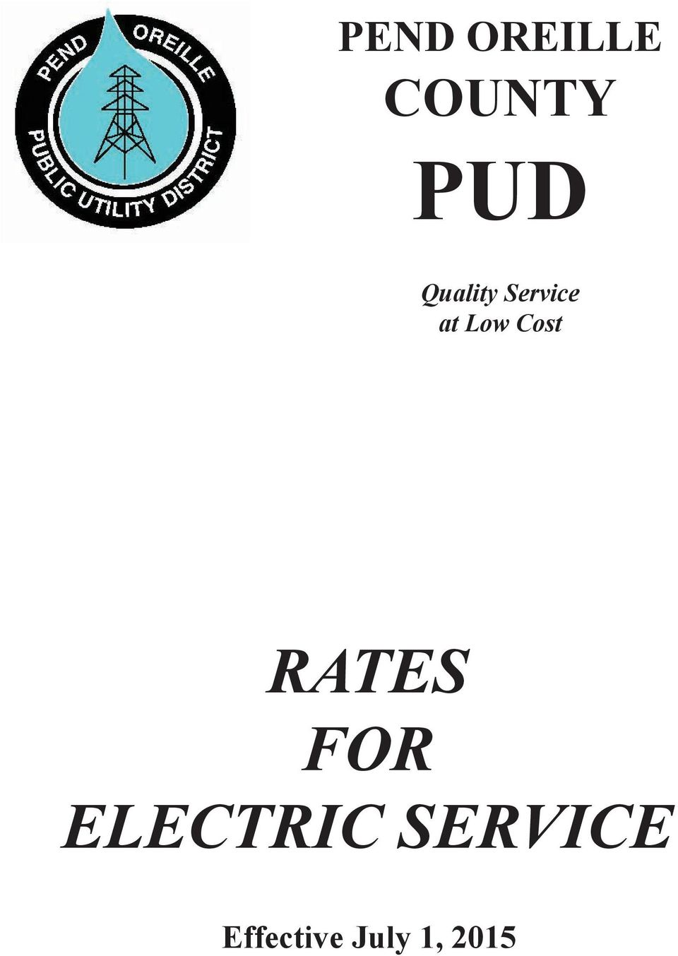 Cost RATES FOR ELECTRIC