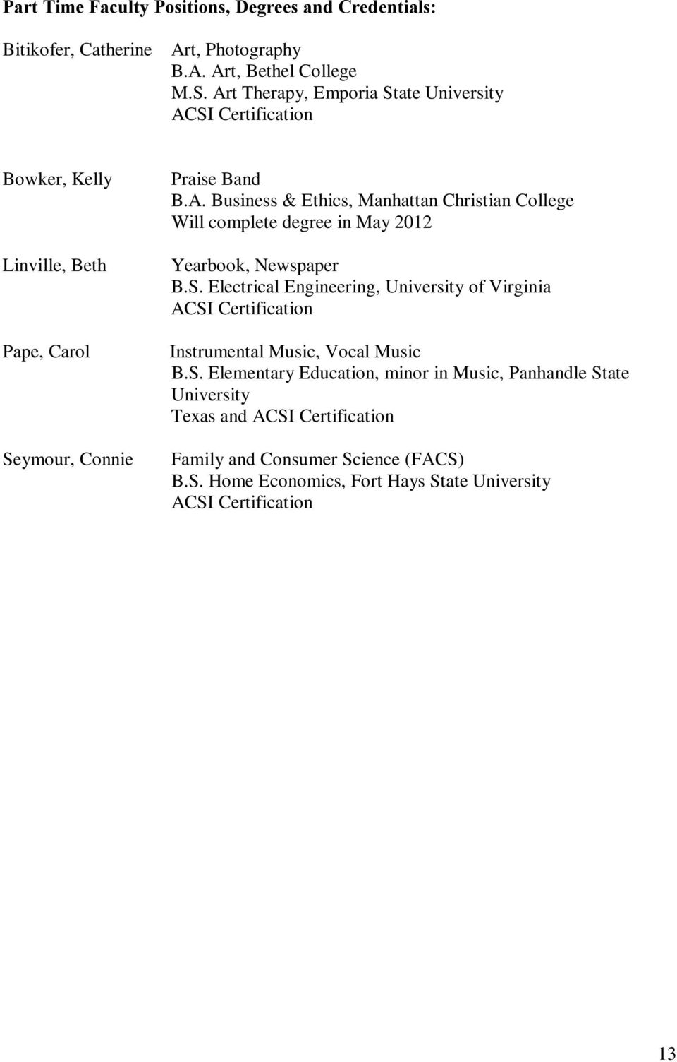 Acsi Accreditation Self Study Report Pdf